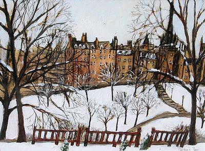 Scottish Artist Stephanie DEES - First Snow, Edinburgh