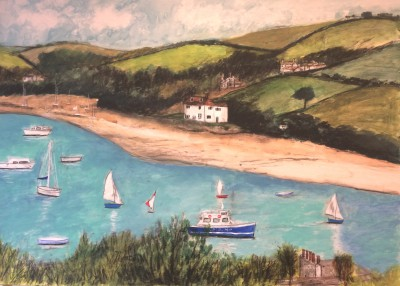 Scottish Artist Stephanie DEES - Morning Salcombe