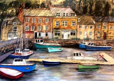Scottish Artist Stephanie DEES - The Harbour at Padstow