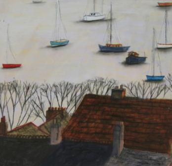Scottish Artist Stephanie DEES - Winter-Glow Falmouth