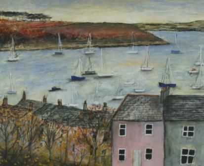Scottish Artist Stephanie DEES - Evening Light, Falmouth