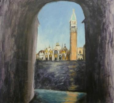 Scottish Artist Stephanie DEES - First View Of The Piazza San Marco