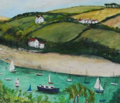 Scottish Artist Stephanie DEES - Summer Salcombe
