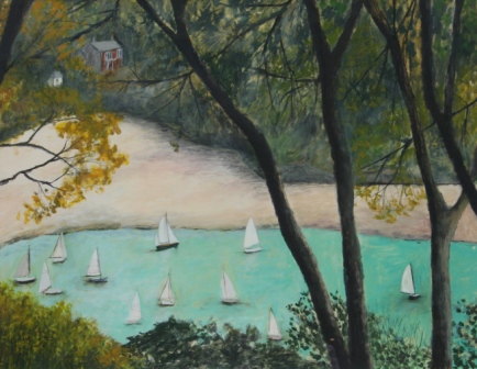 Scottish Artist Stephanie DEES - September Salcombe