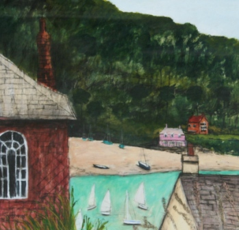 Scottish Artist Stephanie DEES - Late Summer Salcombe