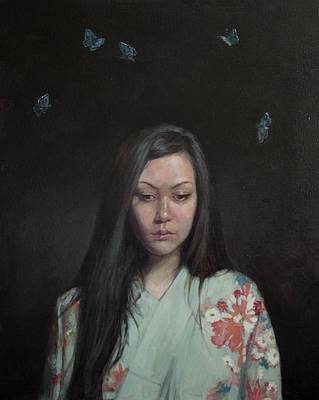 Scottish Artist Stephanie REW - Butterfly Blue