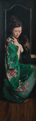 Scottish Artist Stephanie REW - Reflection in Green