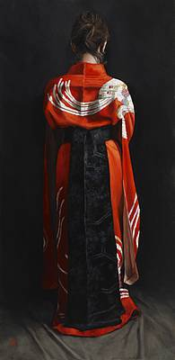 Scottish Artist Stephanie REW - Black Obi