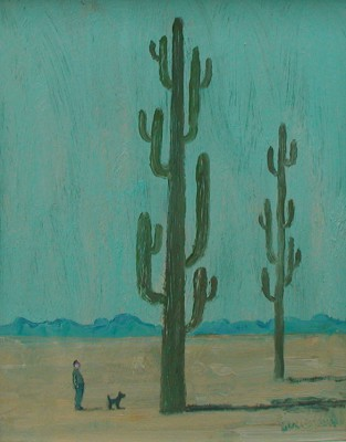 Scottish Artist Stuart BUCHANAN - Desert Giants