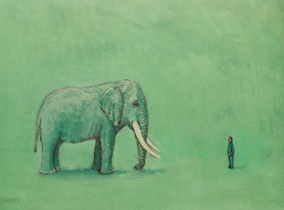Scottish Artist Stuart BUCHANAN - Strangers in a Strange Land (Elephant)