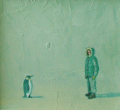 Scottish Artist Stuart BUCHANAN - Strangers in a Strange Land (Emperor Penguin)
