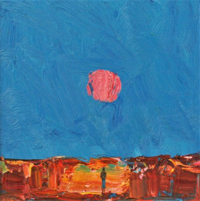Scottish Artist Stuart BUCHANAN - Harvest Moon