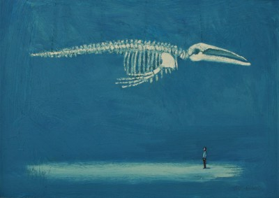 Scottish Artist Stuart BUCHANAN - Blue Whale