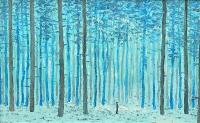Scottish Artist Stuart BUCHANAN - Deep in the Forest - The Forest is Quiet but Never Silent