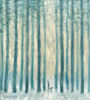 Scottish Artist Stuart BUCHANAN - Winter Woodland