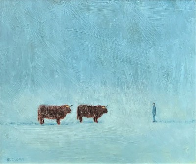 Scottish Artist Stuart BUCHANAN - Highland Scene