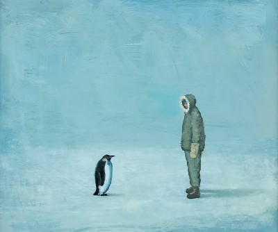 Scottish Artist Stuart BUCHANAN - Antarctic Encounter