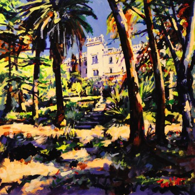 Scottish Artist Tom WATT - Provencal Garden