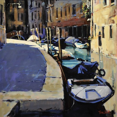 Scottish Artist Tom WATT - Corner Sunlight, Venice