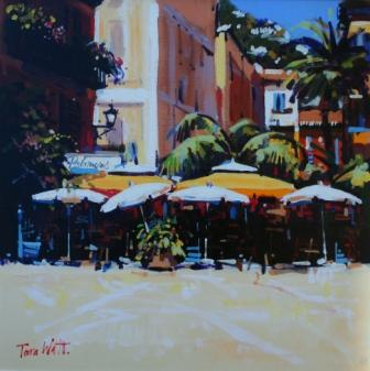 Scottish Artist Tom WATT - Les Palmiers, Villefranche sur Mer