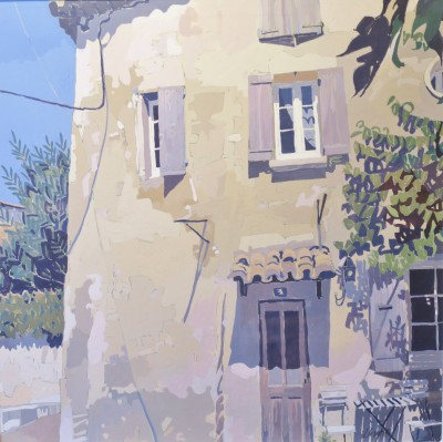 Sablet Village, Provence painting by artist Jennifer IRVINE