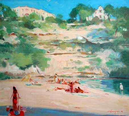 Joe HARGAN - Relaxing at Cala Pi, Majorca